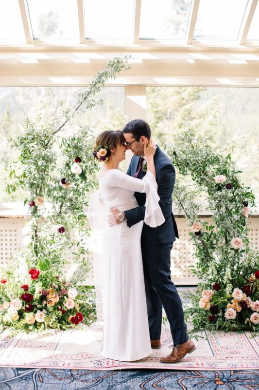 Banff Springs Fairmont mountain wedding elopement intimate summer Conservatory