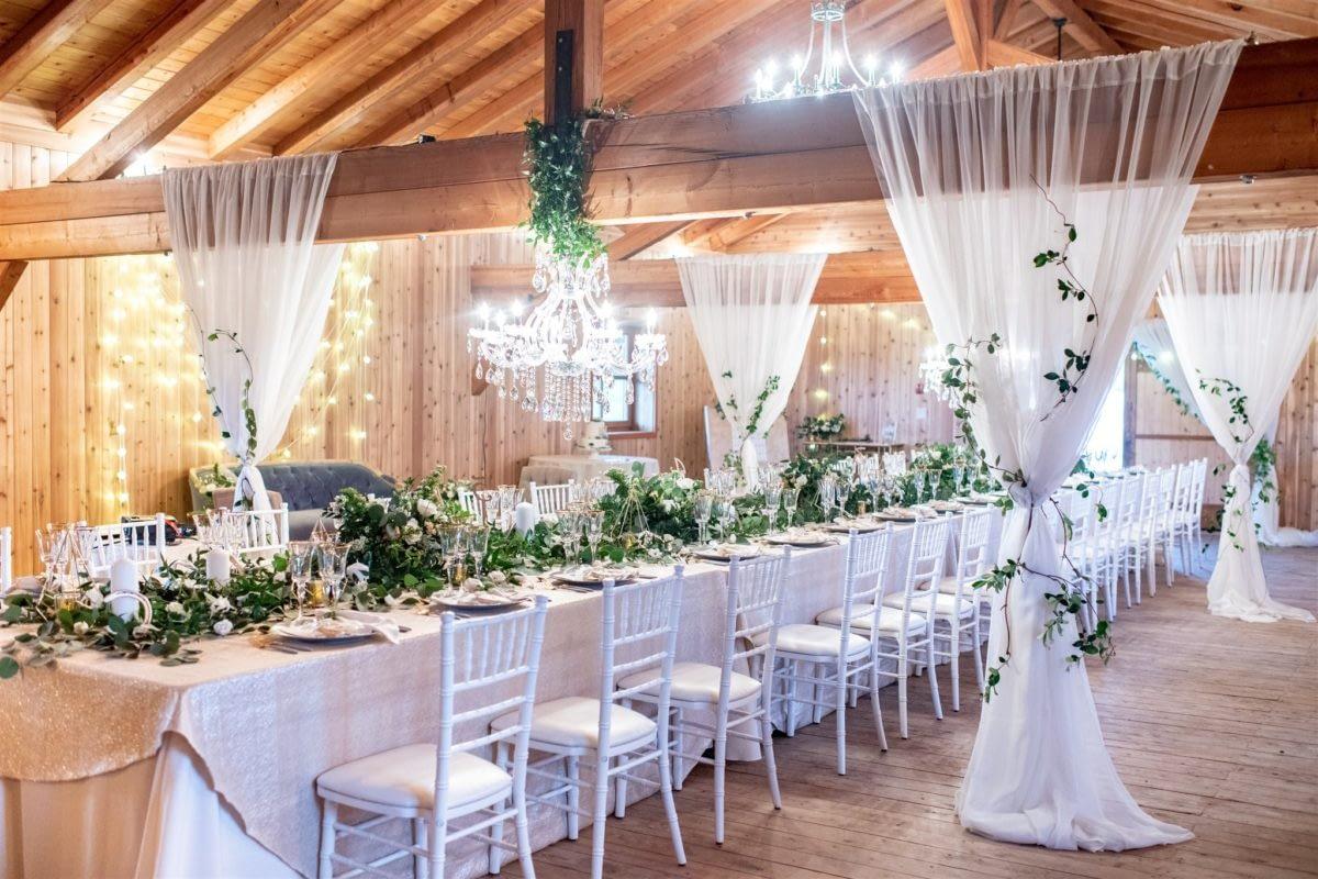 Cherry Creek Estate wedding barn elopement Kimberley British Columbia helicopter mountain bride luxury