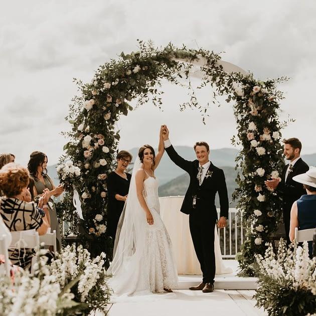 Mountain Bride luxury wedding Fairmont Banff Lake Louise